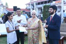 Hon'ble Governor felicitated the winners of Essay competition under celebration of Constitution of India Week 2019 - initiative of Hon'ble Governor